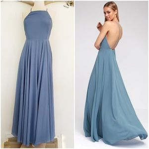 Mythical kind of love maxi dress slate blue